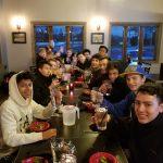 Varsity Soccer Team Dinner Before Regional Game
