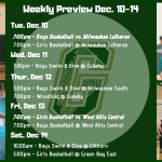 Weekly Preview Dec. 10 – 14