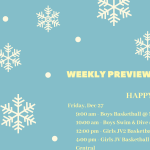 Weekly Preview: Dec. 23 – 28