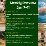 Weekly Preview: Jan. 7 – 11, 2020