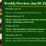 Weekly Preview: Jan. 20 – 25