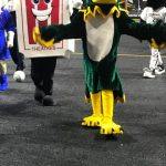 Our Hunter the Hawk at the Milwaukee Wave Game Feb. 8, 2020!!!
