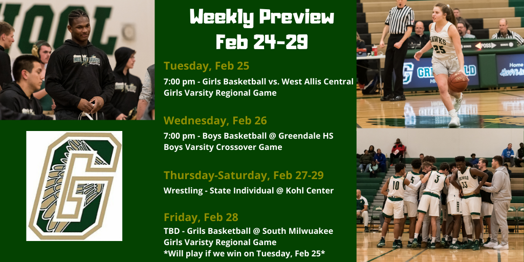 Weekly Preview: Feb 24 – 29