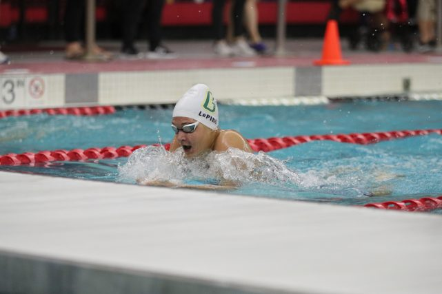 Gabrielle LePine at State Swim Meet 11/14/20