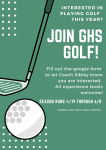 Join GHS Golf 2021