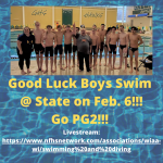 Good Luck Boys Swim at State!!!