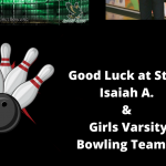 Good Luck GHS Bowlers!!!