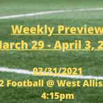 GHS Weekly Preview: March 29 – April 3, 2021