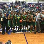 Crispus Attucks Medical Magnet High School Boys Varsity Basketball beat Tri-West High School 74-69