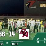 Boys Varsity Football beats Bowman Academy 56 – 14