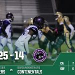 Boys Varsity Football beats George Washington Community 25 – 14