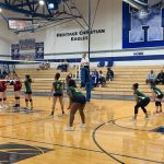 Girls Freshman Volleyball falls to Scecina Memorial 2 – 0 in the 1st round of the Freshman Girls City Volleyball Tournament