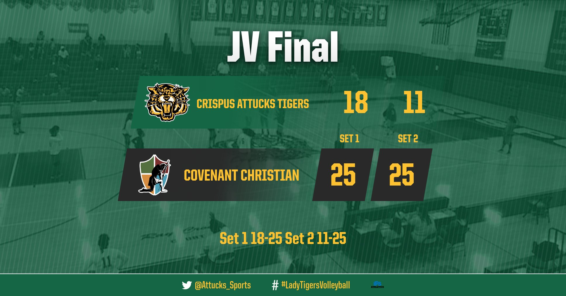 Girls Junior Varsity Volleyball falls to Covenant Christian High School Indy 2 – 0