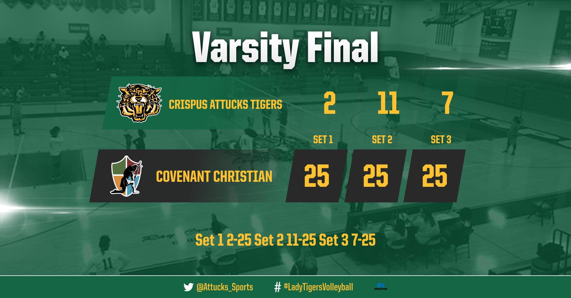 Girls Varsity Volleyball falls to Covenant Christian High School Indy 3 – 0