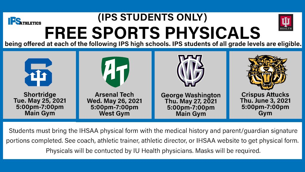 Free Sports Physicals-Crispus Attucks HS Students