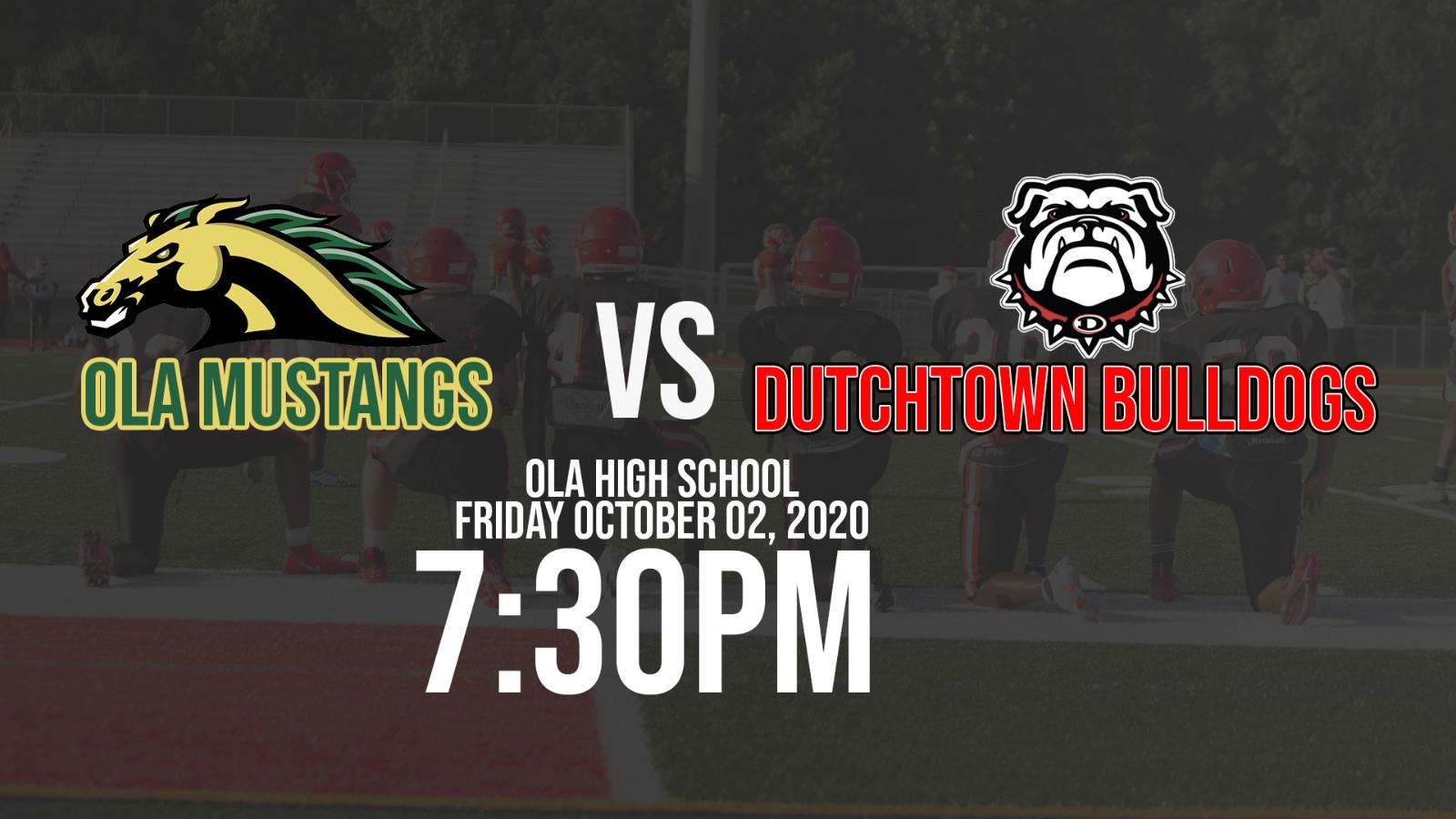 Dutchtown Bulldogs @ Ola Mustangs October 02, 2020