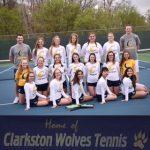 Clarkston High School Girls Junior Varsity Tennis falls to Bloomfield Hills High School 6-1