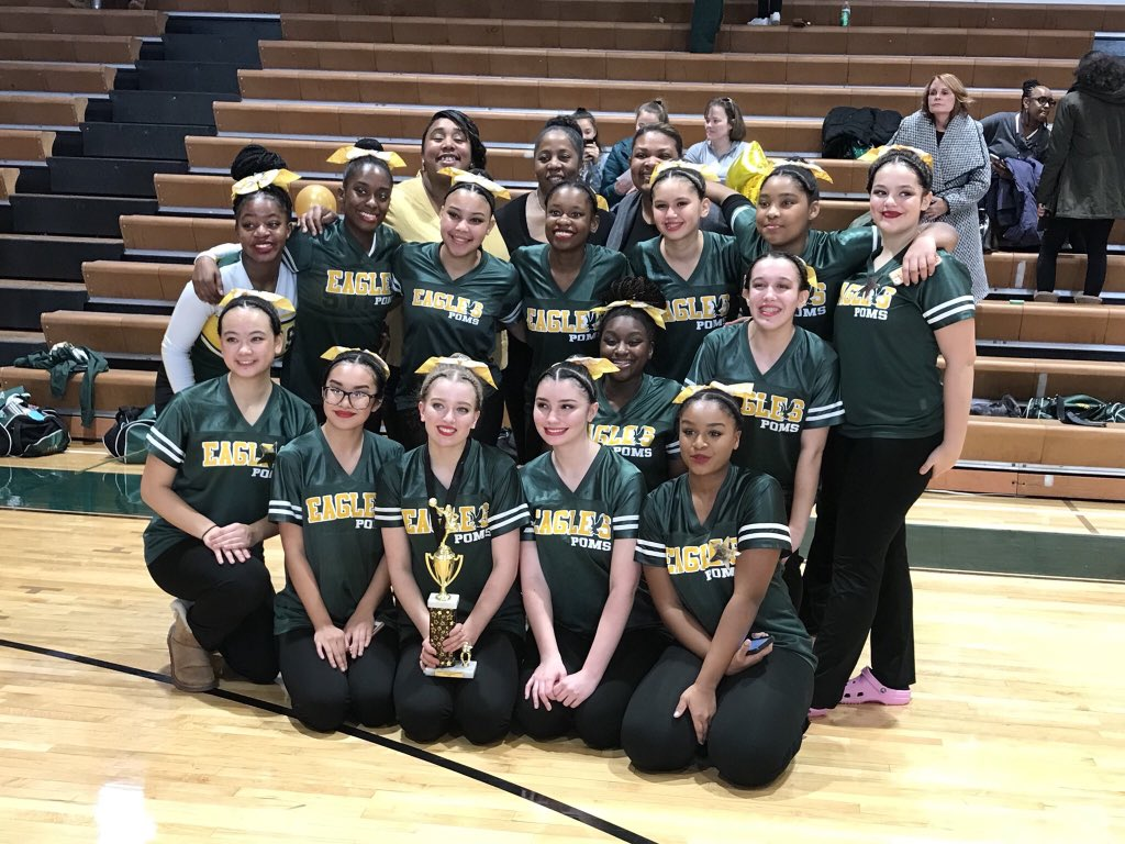Seneca Valley Poms earn Third place finish and Third place Captains- At Damascus Invitational