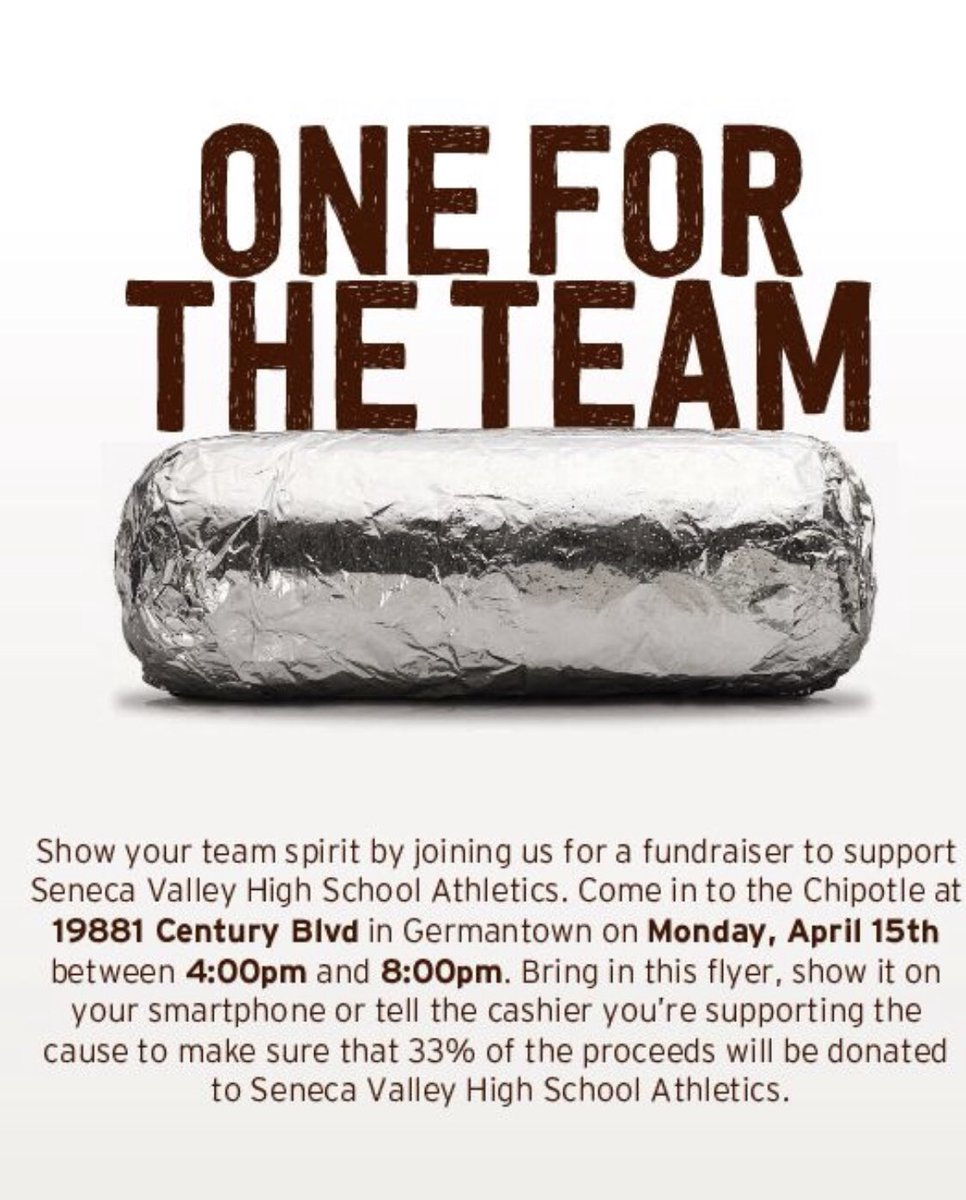 SPRING SPORTS CHIPOTLE FUNDRAISER