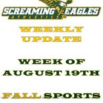 Weekly Update-Week of August 19th- 1st week in the books! Student Athletes still needed