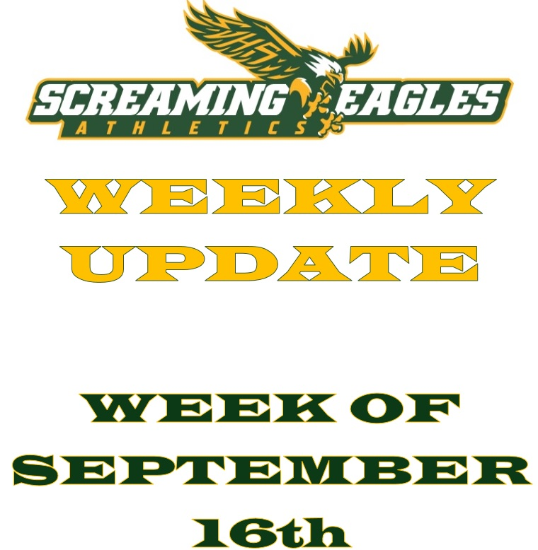 Weekly Update 9-16-19- Sponsorship needed- 1st spirit game