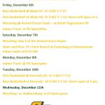 Winter Athletic Events-Important Notes, Schedules and Information