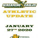 Athletics Update- Week of January 27th- 2nd Semester, Senior Nights, Spring Sports