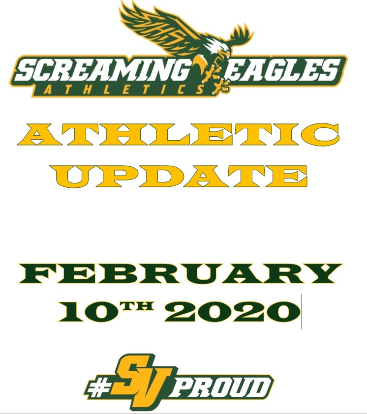 Athletics Update- Week of February 10th- Senior Night Update, Spring Sports, Spring Practice Schedule and Tryout schedule, Huntington Learning Center Tips