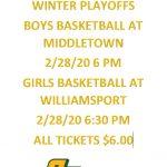 Basketball Playoff Update 2-25-20