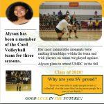 Spring Sports 2020- Senior Spotlight- Alyson Mulato- Coed Volleyball