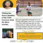 Spring Sports 2020 Senior Spotlight-Mehtaj Islam- Girls Lacrosse
