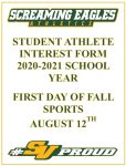 Student Athlete Interest From 2020-21 School year!