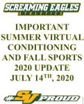 SVHS Summer Virtual Conditioning and Fall Season Update