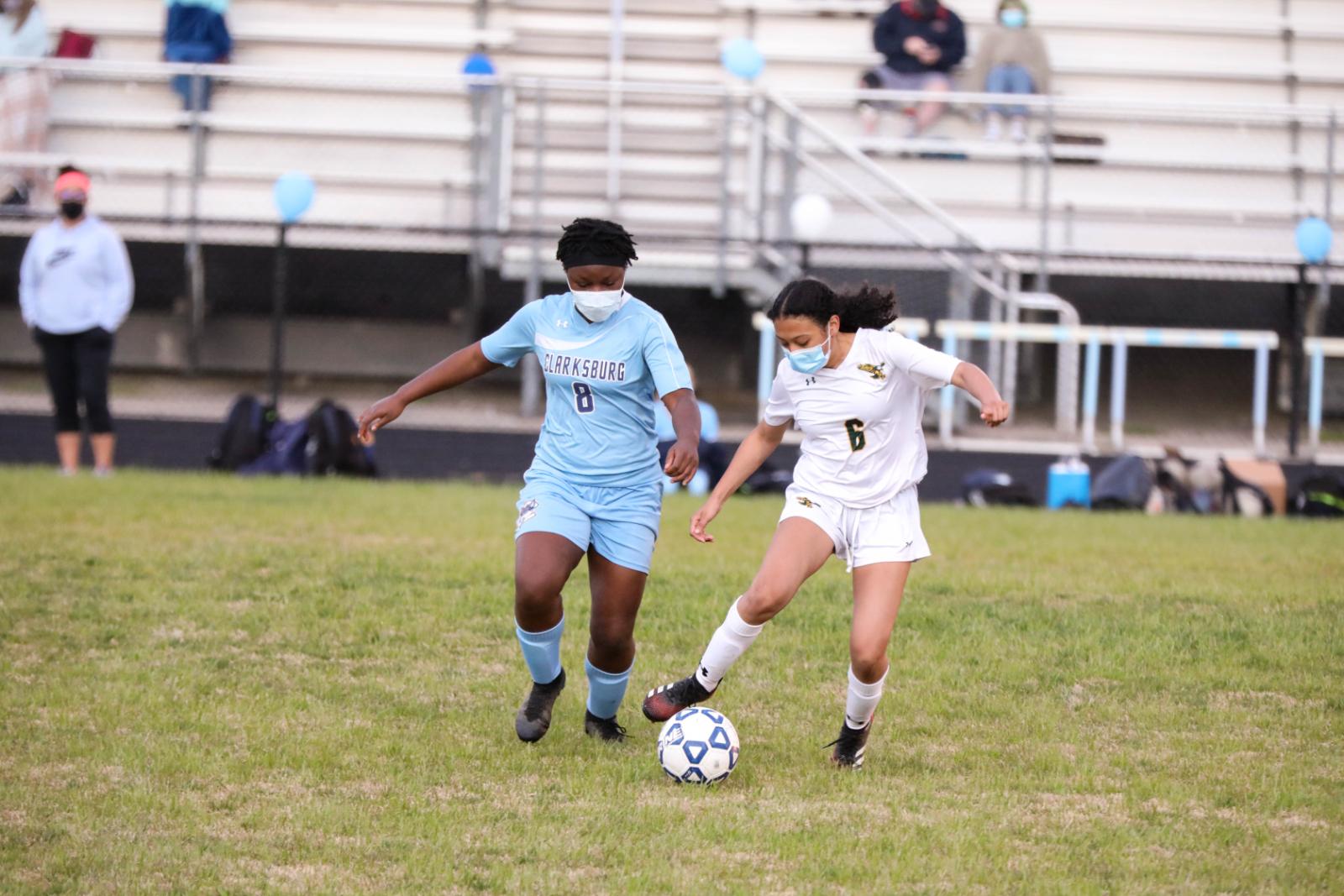 Photo Gallery-Girls Soccer vs Clarksburg April 2021