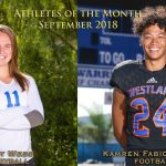 WHS September Athletes of the Month