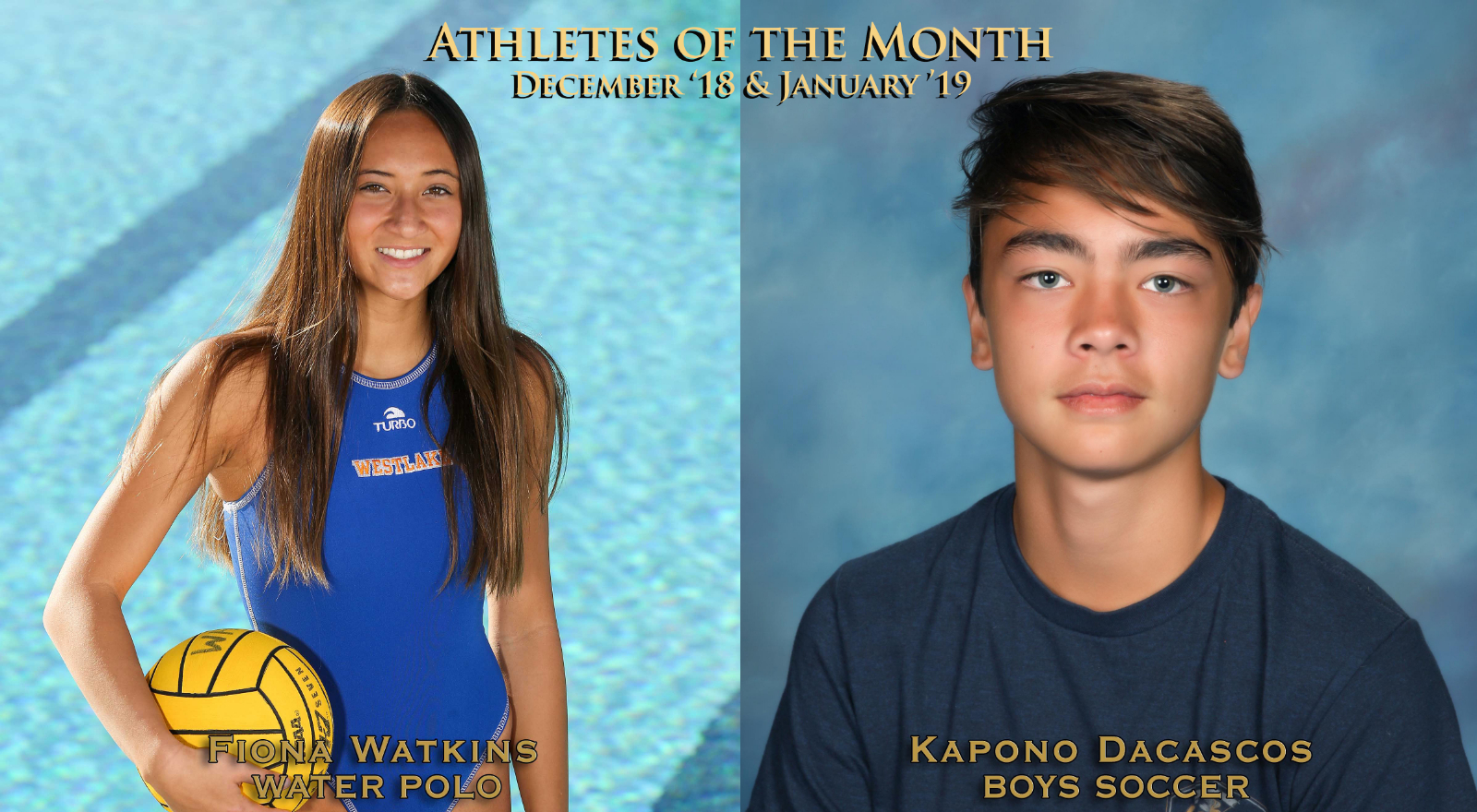 Watkins and Dacoscos Named Athletes of the Month