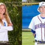 Baklenko and Kritsch Named February Athletes of the Month