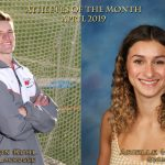 Kuhl, Hayon Named April Athletes of the Month
