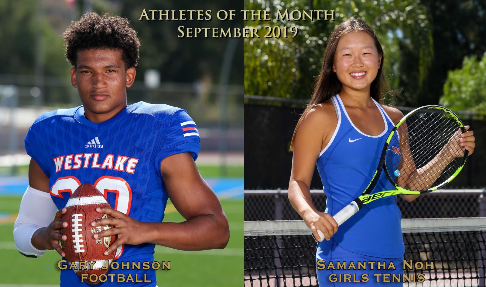 Johnson, Noh Named September Athletes of the Month