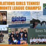 Girls' Tennis Clinches Another Marmonte League Title
