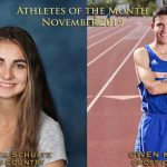Schultz, Kobett Named November Athletes of the Month