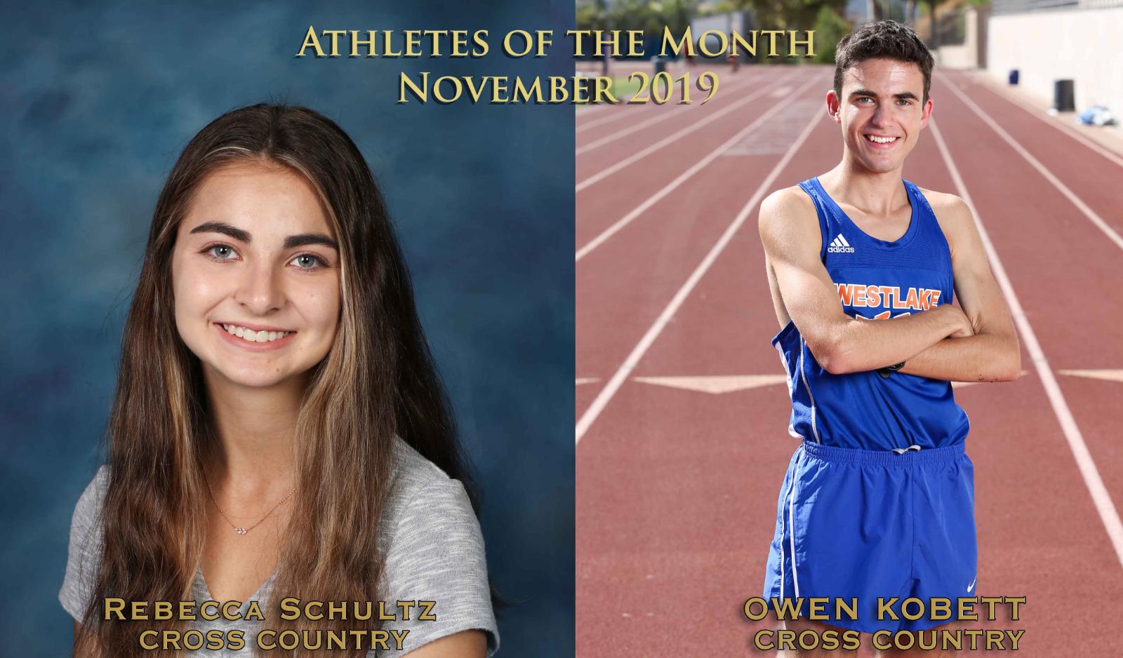 Schultz, Kobett Named November Athletes of the Month