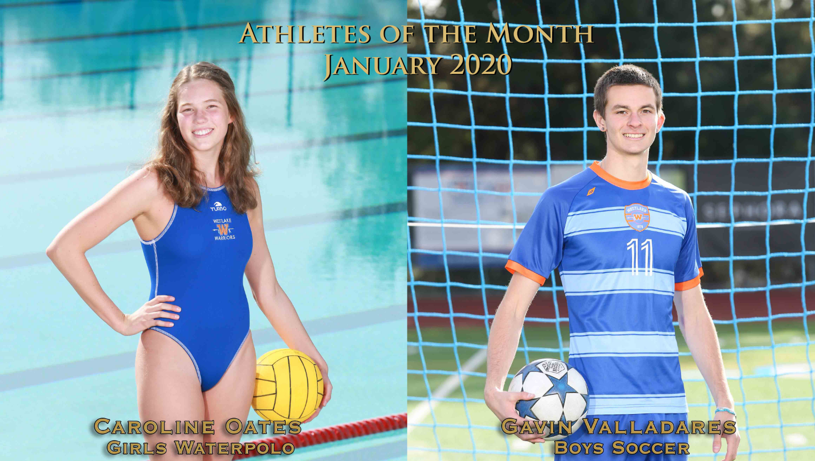 Oates and Valladares Earn Athlete of the Month Honors