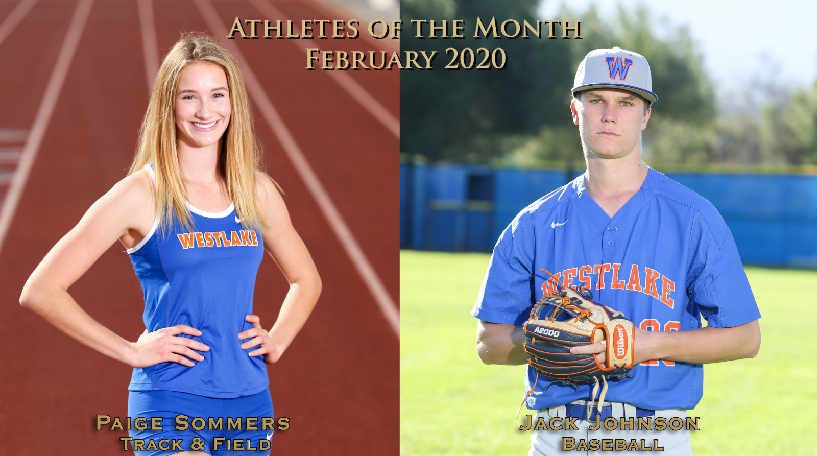 Sommers, Johnson named Athletes of the Month for February