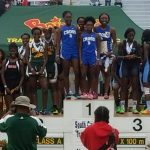 Cross Trojan girls bring home gold in 4×100