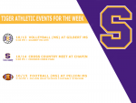 Weekly Athletic Schedule Oct. 12th-16th