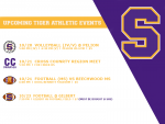 Weekly Athletic Schedule 10/19 – 10/23