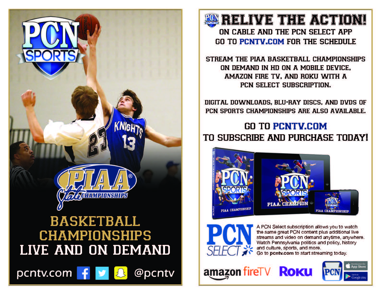 Watch OLSH Basketball in the PIAA Class 2-A Championship Game on PCN-TV