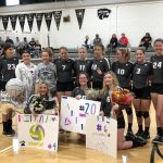 Varsity Volleyball beats Weir 3 – 1 on Senior Night