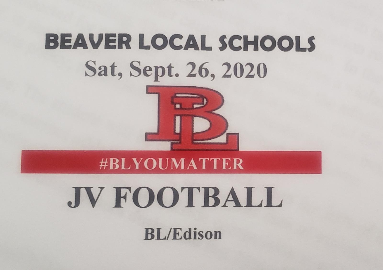 JVFB Saturday at Beaver Local